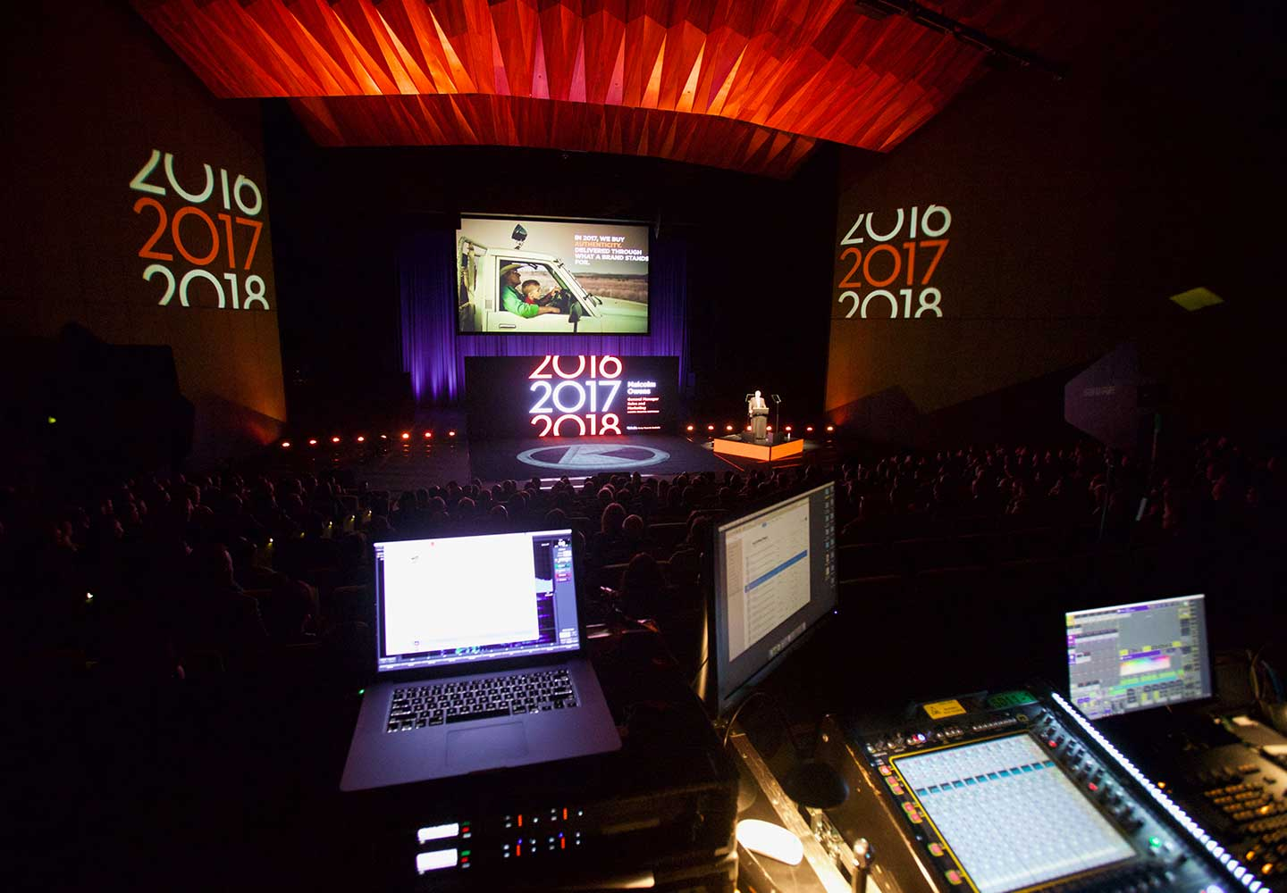 We supply and coordinate high-end professional AV equipment for short and long-term hire. Our extensive inventory across audio, visual, staging and lighting, coupled with our technical expertise will ensure you have the right AV solution for every event, every time.