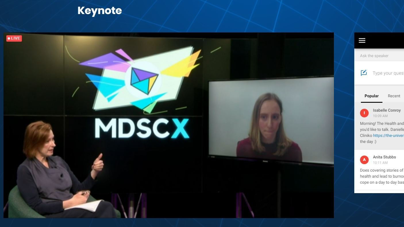 Leigh Sales interview at MDSCx