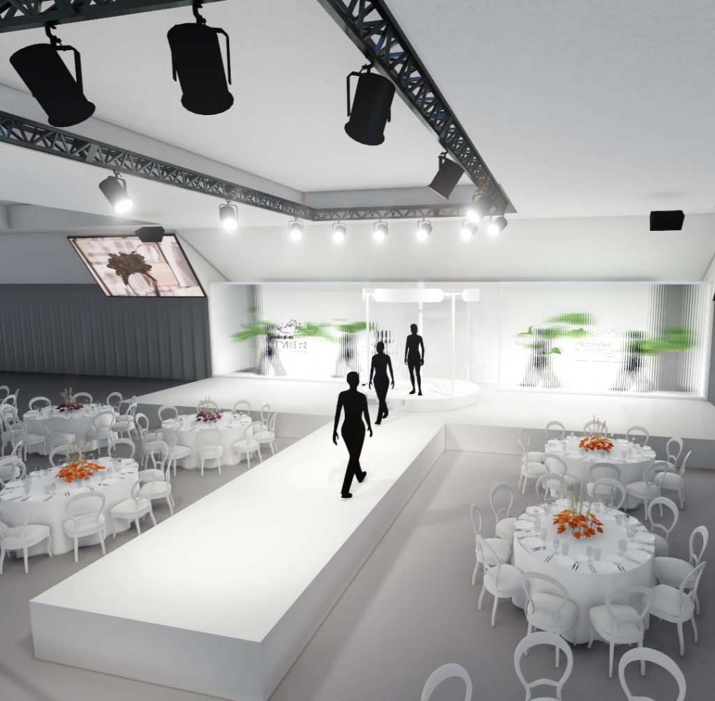 A render of a fashion show at Flemington Racecource